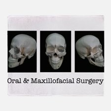 OMS surgical skull Throw Blanket