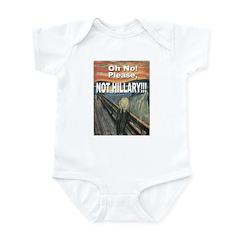 Anti-Hillary Clinton Infant Bodysuit