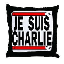 Je Suis Charlie White BG Throw Pillow