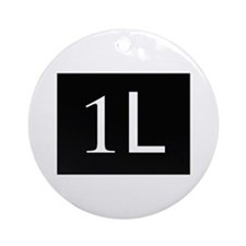 1L, first year law student Ornament (Round)