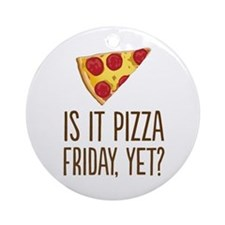 Pizza Friday Ornament (Round)