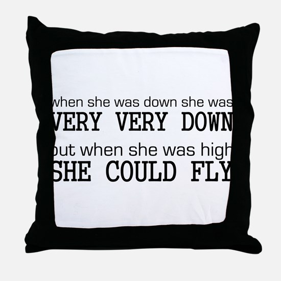 High and Low Throw Pillow