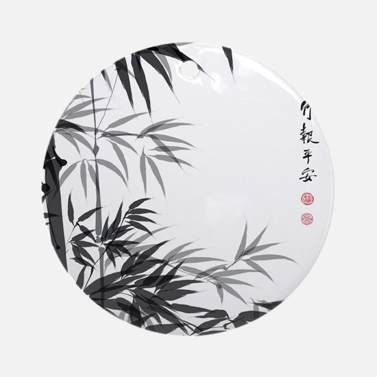 Asian Bamboo Ornament (Round)