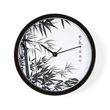 Asian Bamboo Wall Clock