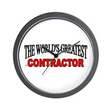 """The World's Greatest Contractor"" Wall Clock"