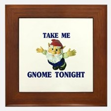 Take Me Gnome Tonight Framed Tile