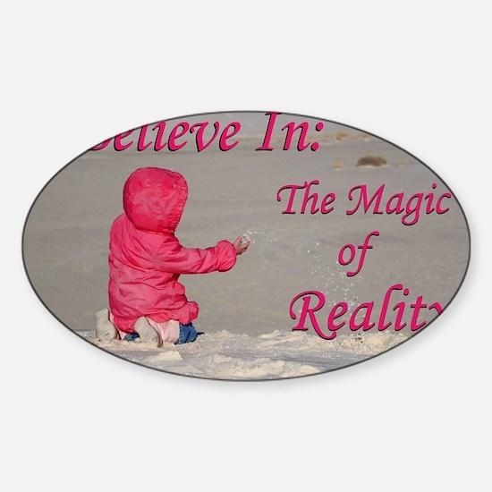 Magic of Reality Sticker (Oval)