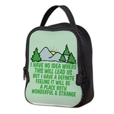 Twin Peaks Trees Neoprene Lunch Bag