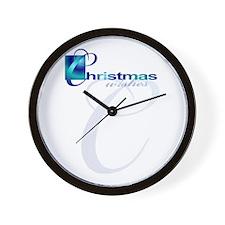 Christmas Wishes Elegant Wall Clock