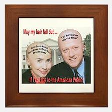 Anti-Hillary Clinton Framed Tile
