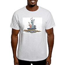 Martians - Ash Grey T-Shirt