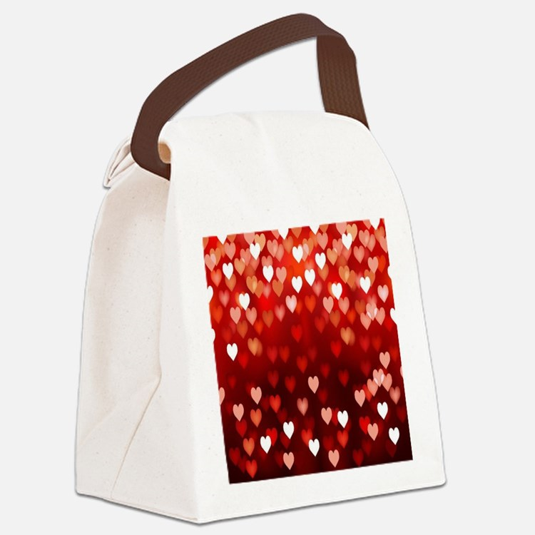 1,2,3,4,5.....hearts Canvas Lunch Bag