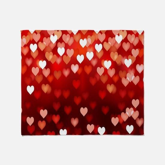 1,2,3,4,5.....hearts Throw Blanket
