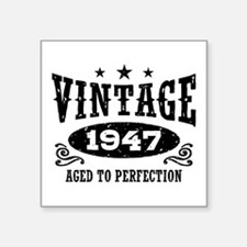 "Vintage 1947 Square Sticker 3"" x 3"""