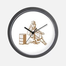 Barrel Racer Wall Clock