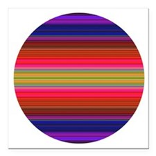 """Vibrant Pink and Purple  Square Car Magnet 3"""" x 3"""""""