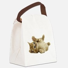 Tickle Me Kitten Canvas Lunch Bag