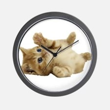 Tickle Me Kitten Wall Clock