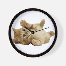 Tickle Me Kitten Wall Clock