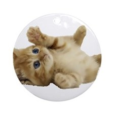 Tickle Me Kitten Ornament (Round)