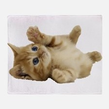 Tickle Me Kitten Throw Blanket