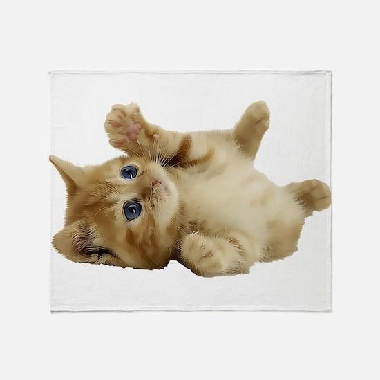Tickle Me Kitten Throw Blanket