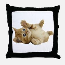 Tickle Me Kitten Throw Pillow