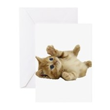 Tickle Me Kitten Greeting Cards