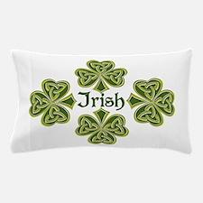 Irish Trinity Clovers Pillow Case