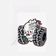 OffRoad Styles Skull Roller Greeting Cards