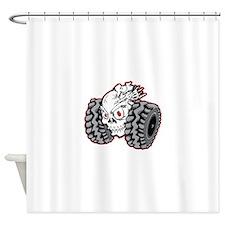 OffRoad Styles Skull Roller Shower Curtain