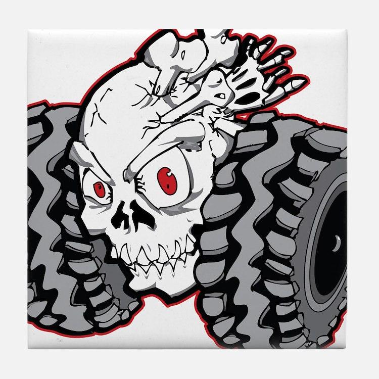 OffRoad Styles Skull Roller Tile Coaster