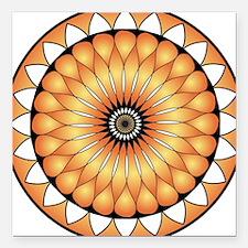 "Gorgeous Lotus Mandal Or Square Car Magnet 3"" x 3"""