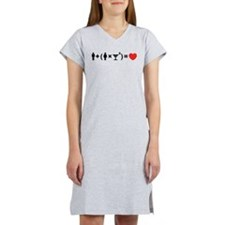 The Love Equation for Women Women's Nightshirt