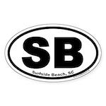 Surfside Beach, SC Oval Sticker
