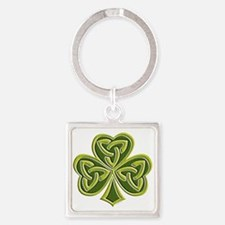 Celtic Trinity Square Keychain