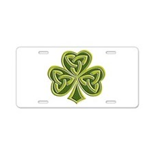 Celtic Trinity Aluminum License Plate