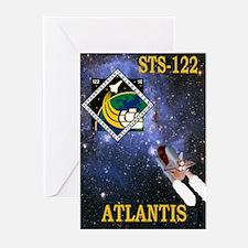 STS 122 Atlantis Greeting Cards (Pk of 10)