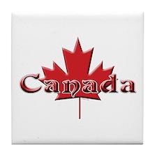 Canada: Maple Leaf Tile Coaster
