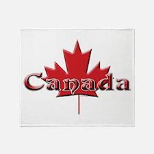 Canada: Maple Leaf Throw Blanket