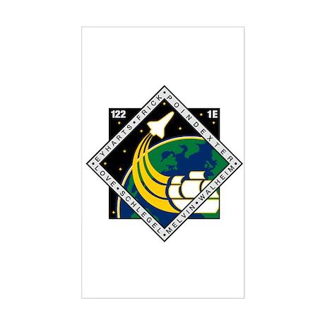 STS 122 Atlantis Rectangle Sticker