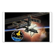 STS 120 Discovery Rectangle Decal