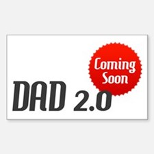 Dad 2.0 Expectant Father Rectangle Decal