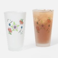Floral Fantasy Drinking Glass