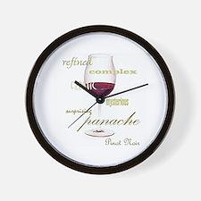 Pinot Noir Wine Wall Clock