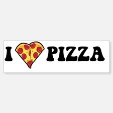 I Love Pizza Bumper Bumper Sticker