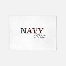 Mom Navy/Flag 5'x7'Area Rug