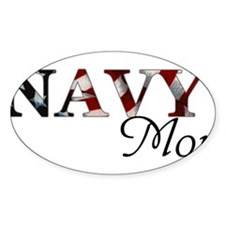 Navy Mom Rectangle Decal