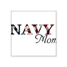 Navy Mom Rectangle Sticker