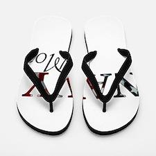 Mom Navy/Flag Flip Flops